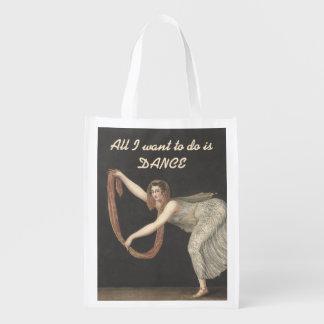 Pas-de-Shawl Dance Annette Kobler Amsterdam 1812 Reusable Grocery Bags