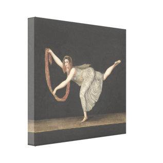 Pas-de-shawl Dance Annette Kobler Amsterdam 1812 Canvas Print at Zazzle