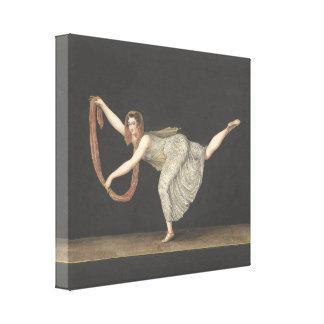 Pas-de-Shawl Dance Annette Kobler Amsterdam 1812 Canvas Print