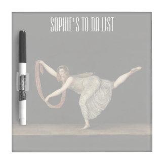 Pas-de-Shawl Dance Annette Kobler Amsterdam 1812 Dry Erase Board