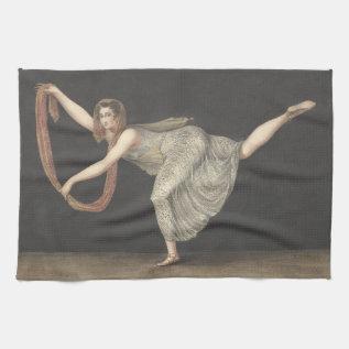 Pas-de-shawl Dance Annette Kobler Amsterdam 1812 Kitchen Towel at Zazzle