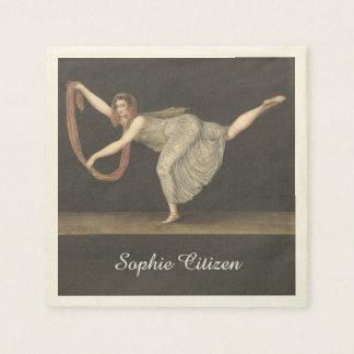Pas-de-Shawl Dance Annette Kobler Amsterdam 1812 Napkin
