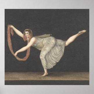 Pas-de-Shawl Dance Annette Kobler Amsterdam 1812 Poster