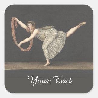 Pas-de-Shawl Dance Annette Kobler Amsterdam 1812 Square Sticker