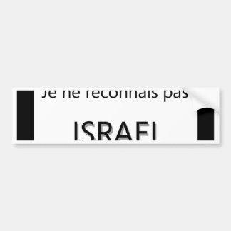pas Israel de los reconnais del ne del je Pegatina Para Auto
