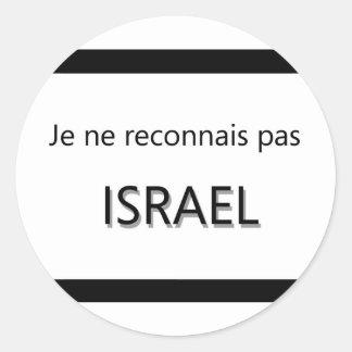 pas Israel de los reconnais del ne del je Pegatina Redonda