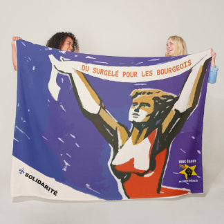 Pas le more thawed out of limps Quebec pol. Joke Fleece Blanket