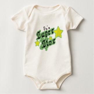 Pa's Super Star Baby Bodysuit