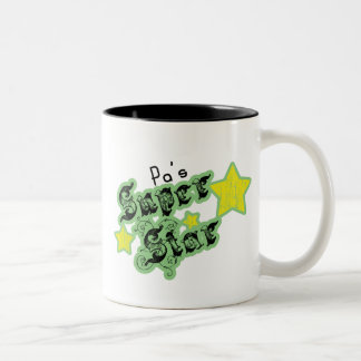 Pa's Super Star Two-Tone Coffee Mug