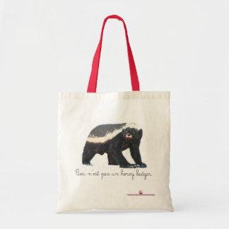 Pas Un Honey Badger Budget Tote Bag