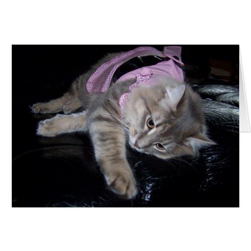 pasa en rosa tarjeta de felicitación