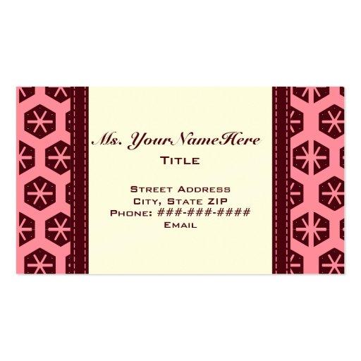 Pasa y tarjeta de visita rosada