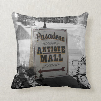 Pasadena Antique Mall Sign Throw Pillows