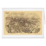 Pasadena, CA Panoramic Map - 1903 Greeting Card