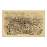 Pasadena, CA Panoramic Map - 1903 Posters