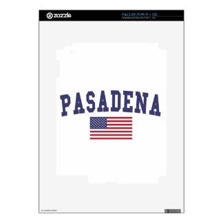 Pasadena CA US Flag Decal For The iPad 2