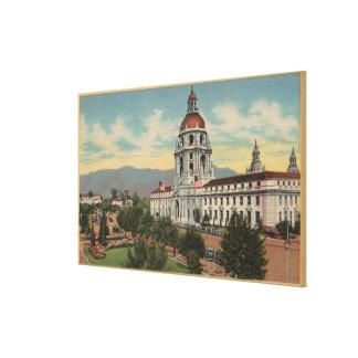 Pasadena, CA - View of City Hall & Public Librar Canvas Print