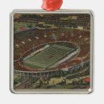 Pasadena, California - el Rose Bowl Adorno Cuadrado Plateado