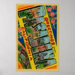 Pasadena, California - Large Letter Scenes Poster