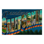 Pasadena, California - Large Letter Scenes Posters