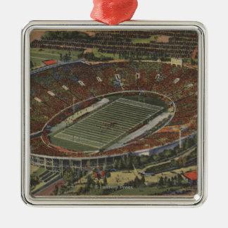 Pasadena, California - The Rose Bowl Metal Ornament