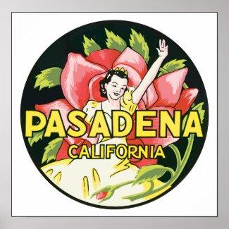Pasadena California, Vintage print