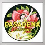 Pasadena California, vintage Póster