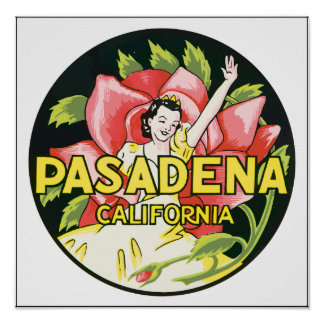 Pasadena California Vintage Poster
