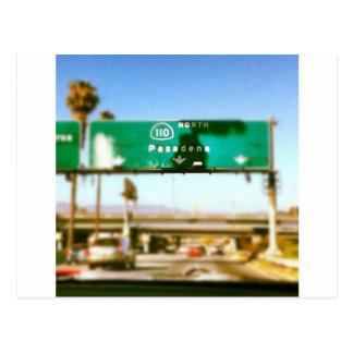 Pasadena en route postcard