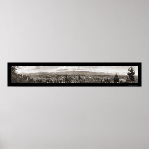 Pasadena, foto 1910 de CA Póster