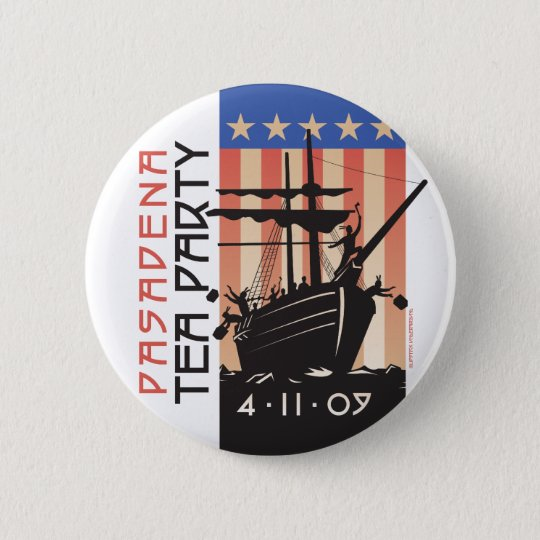 Pasadena Tea Party Pinback Button