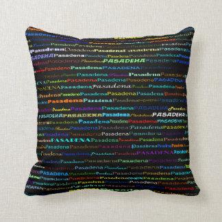 Pasadena Text Design I Throw Pillow