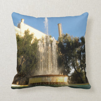 Pasadena's Water Cooling Fountain Throw Pillow