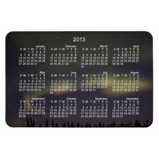 Pasado de las luces; Calendario 2013 Imán Rectangular