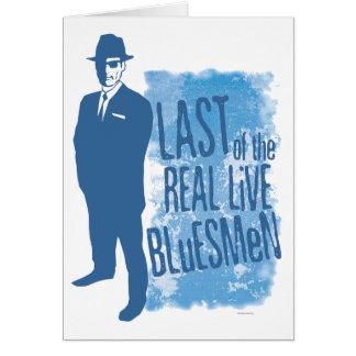 Pasado de los Bluesmen vivos reales Notecard Tarjeta Pequeña
