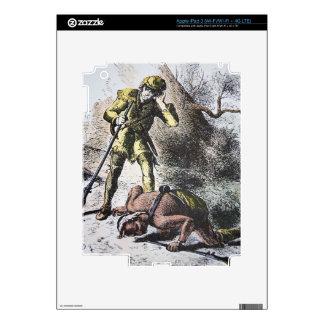 """""""Pasado de los Mohicans"""" por James Fenimore Cooper iPad 3 Skins"""