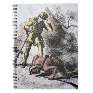 """""""Pasado de los Mohicans"""" por James Fenimore Cooper Libretas Espirales"""
