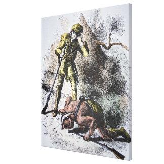 """""""Pasado de los Mohicans"""" por James Fenimore Cooper Lona Envuelta Para Galerías"""