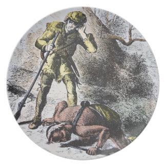 """""""Pasado de los Mohicans"""" por James Fenimore Cooper Plato Para Fiesta"""