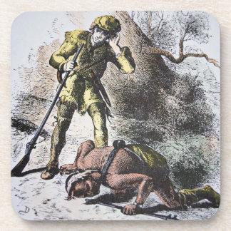 """""""Pasado de los Mohicans"""" por James Fenimore Cooper Posavasos De Bebida"""