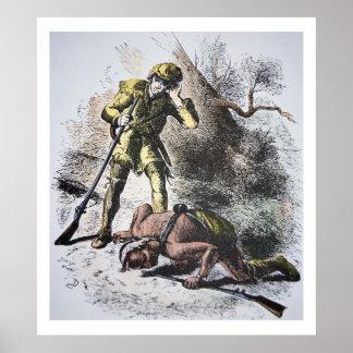 """Pasado de los Mohicans"" por James Fenimore Cooper Póster"