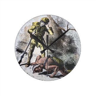 """""""Pasado de los Mohicans"""" por James Fenimore Cooper Reloj Redondo Mediano"""