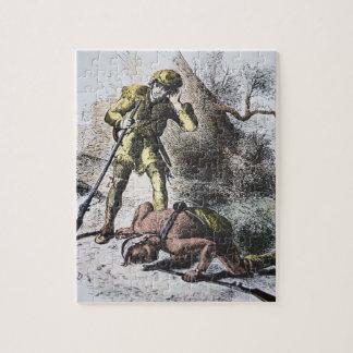 """""""Pasado de los Mohicans"""" por James Fenimore Cooper Rompecabeza"""