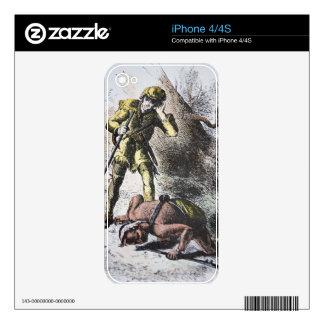 """""""Pasado de los Mohicans"""" por James Fenimore Cooper Skins Para eliPhone 4S"""