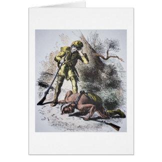 """""""Pasado de los Mohicans"""" por James Fenimore Cooper Tarjeta De Felicitación"""