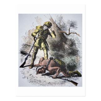 """""""Pasado de los Mohicans"""" por James Fenimore Cooper Postales"""