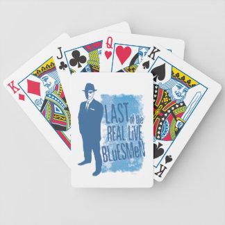 Pasado de los naipes vivos reales del Bluesman Baraja Cartas De Poker