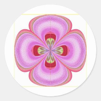 Pasado de moda - impresión floral de GoodLuck Pegatina Redonda