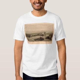 Pasado del búfalo Bierstadt (0137A) - Unrestored Remera