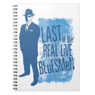 Pasado del cuaderno vivo real de los Bluesmen